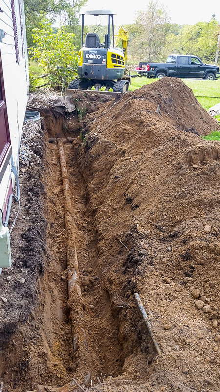 Rusted Iron Pipe Removal