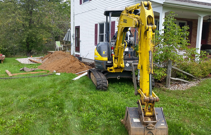 Digging Old Iron Pipe-Installing New PVC Pipe