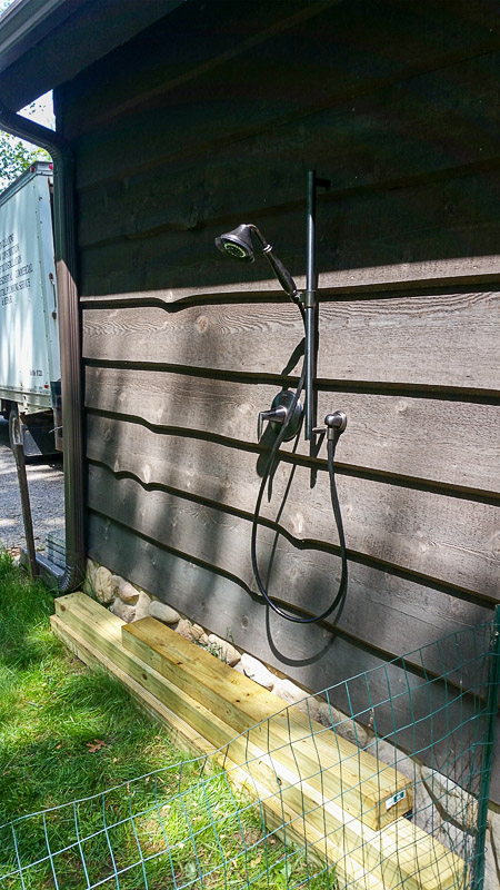 Outdoor Shower Install