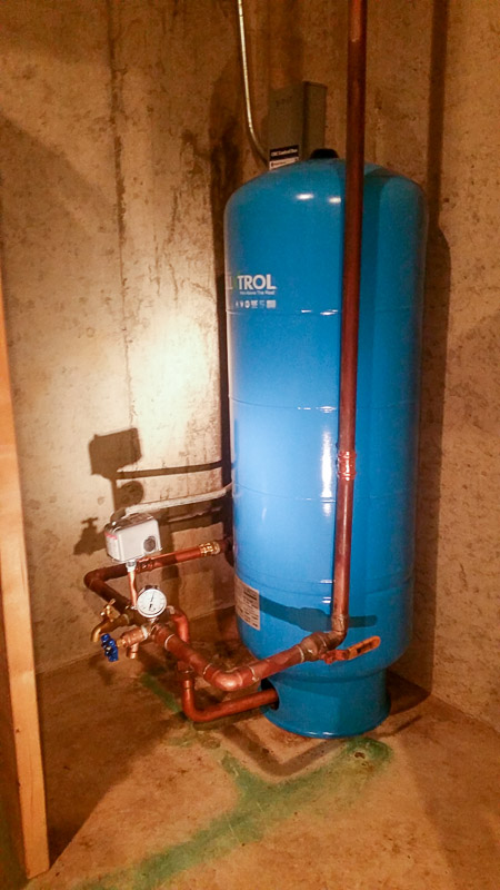 Large Pressure Tank Replacement